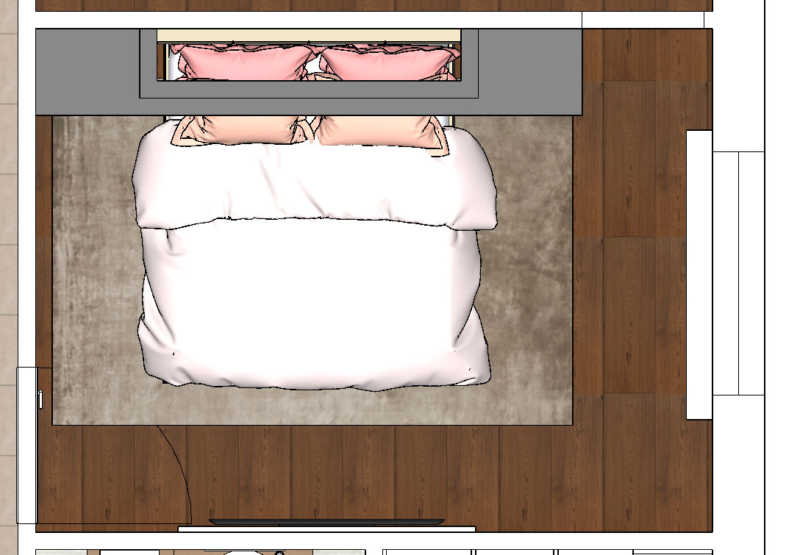 Tlocrt spavaće sobe